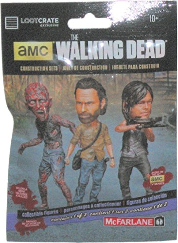 Image of 5 x Loot Crate February 2016 Exclusive Walking Dead Blind Packed Figures