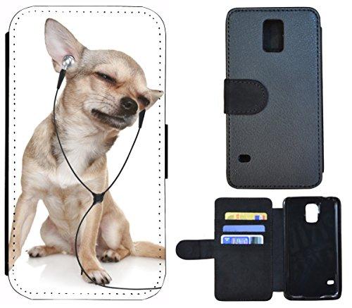 Flip Cover Schutz Hülle Handy Tasche Etui Case für (Apple iPhone 6 / 6s, 1408 Elefant Elefanten Baby Grau Afrika) 1405 Hund Hunde Baby Welpe Braun Grau