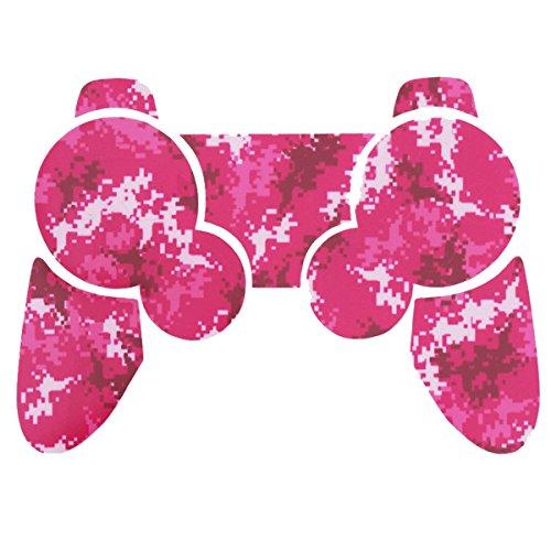 Sony PS3 Controller Sticker - Aufkleber Schutzfolie Skin für Playstation DualShock 3 Wireless Controller - Digicamo Pink