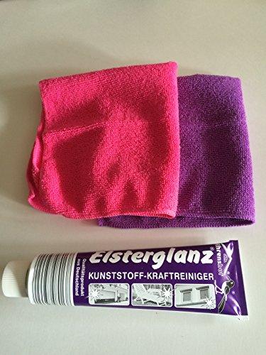 Elsterglanz Kunststoffreiniger Polierpaste 150 ml und 2 Microfasertücher