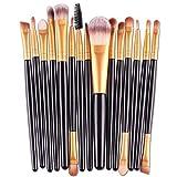 Lieja 15pezzi Set di pennelli cosmetici fondazione ombretto labbro spazzola trucco strumenti spazzola set