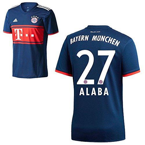 d6fbefd1c3dbe4 Adidas FC Bayern München FCB Away Trikot 2017 2018 Herren Kinder mit  Spieler Name navy Farbe