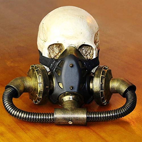 WFTD Steampunk Gasmaske, Totenmaske Maskerade Cosplay Halloween Kostüm-Requisiten