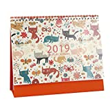 Die besten Freund Planer - Vosarea 2019 Katze Muster kreative Tischkalender Zeitplan Planer Bewertungen