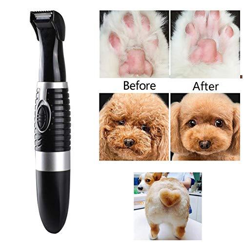 overlookTW Geräuscharme, kabellose, kleine Haustier-Haarschneidemaschine, elektrische Haustier-Trimmer-Haarschneidemaschine, Scheren-Nagel-Kits für Hunde, Katzen und andere haarige Tiere intensely -
