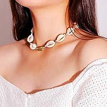 115eed4016b4 Yean Boho collar de concha cadena playa joyas para mujeres y niñas
