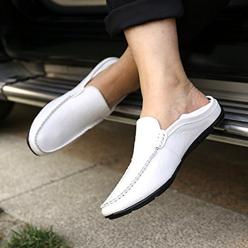 Gaorui Männer Weichsohlen Müßiggänger Freizeitschuhe beiläufige lederne Schuhe Mokassins Leder Schuhe Braun