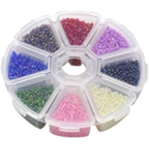 Colorful Acrílico Beads Juguete DIY Joyas para niños Collar y pulsera artesanales, Glass Seed Beads