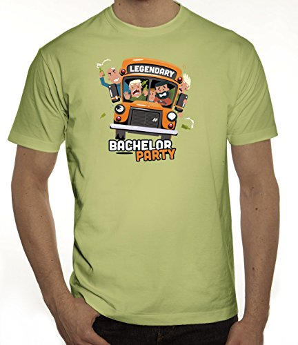 Junggesellenabschieds JGA Hochzeit Herren T-Shirt Legendary Bachelor Party Limone