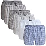 Lower East Homme American Style Boxer, Lot 6, Lot de 6 Multicolore (Mustermix), Medium (lot de 6)