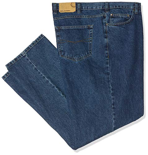 Oklahoma Jeans Herren R144 Straight Jeans, Blau (Stone Wash 005), W50/L30 (Herstellergröße: 52/30)