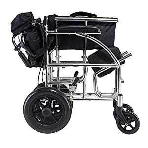 G&M Best Folding Wheelchair Full Arms Removable Footrest Drive Medical wheel locks Lightweight Foldable