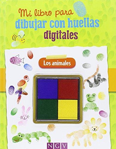 Mi libro para dibujar con huellas digitales: Los animales por AA.VV