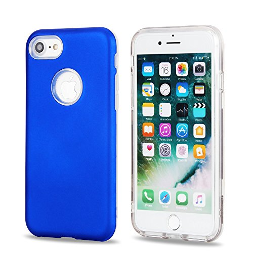 Housse pour Apple iPhone 7, Coque Pour IPhone 7 Dual Layer PC + TPU Hybrid Shell Ultra mince Slim Case pour Apple iPhone 7 ( Color : Gold ) Royalblue