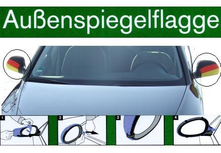Außenspiegelflagge Set Deutschland *Das Original*