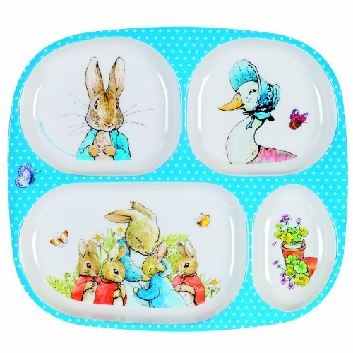Peter Rabbit Melamine 4 Compartments Plate