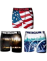 Freegun - lot de 3 boxers homme