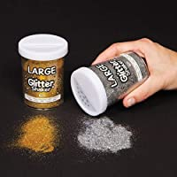 Gold & Silver Jumbo Glitter Shakers for Children for Crafts (Set of 2)