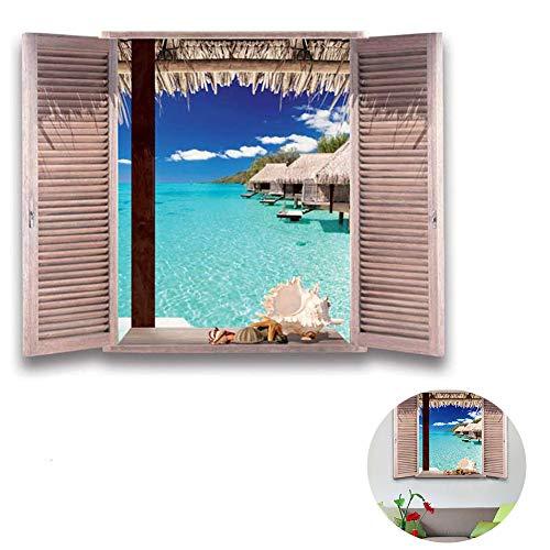 DDG EDMMS hawaiische Strand-Tapete Mural Palm Beach Spektakuläre Landschaft Schlafzimmer-Wand-Hintergrund-Tapete Home Decor