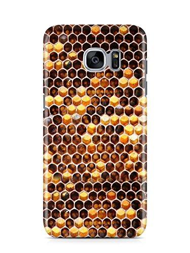 COVER Honig Biene Wabe Handy Hülle Case 3D-Druck Top-Qualität kratzfest Galaxy S7 (Honig Hipster)