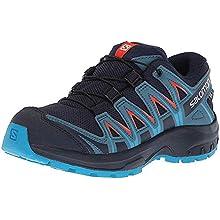 Salomon XA PRO 3D CSWP K, Scarpe da Trail Running Bambini, Blu/Arancione (Navy Blazer/Mallard Blue/Hawaiia, 26 EU