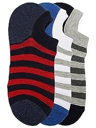 Alvaro Castanino Mens Multi Colored Set OF 3 Pairs Shoeliner Socks