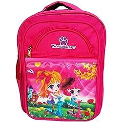 Worldcraft Princess 16 inch Pink Waterproof Children's School Backpack (2girlsScootyWCArc)