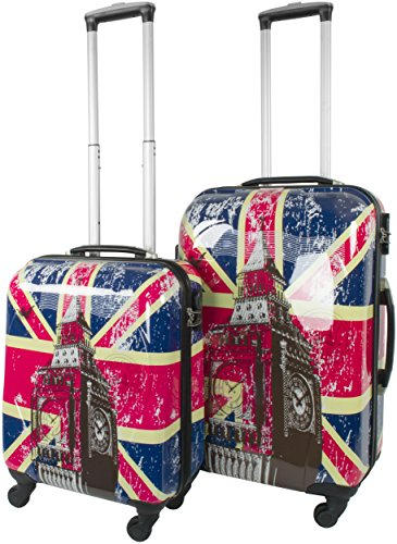 Normani ABS Hartschalen Kofferset, 2 Teilig, 68 cm, British Flag