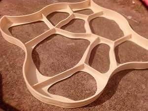Moule en plastique pour pavage d'allées asymétrique en béton Extra large 80 x 80 x 6cm