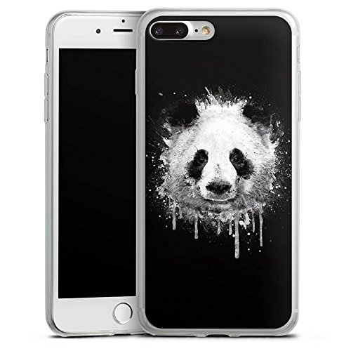 Apple iPhone X Slim Case Silikon Hülle Schutzhülle Panda Bär Grafitti Silikon Slim Case transparent