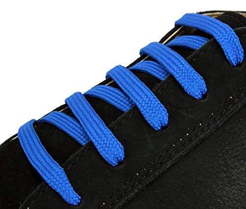 """XeeBest Damen Schnürsenkel Sneakers Streicher - Sport Schuhe Stiefel Skates Laces Blau Dark2 Schnürsenkel enthalten jeweils 48""""= 5-6 Löcher"""