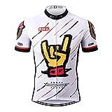 Thriller Rider Sports® Uomo Rock Music White Sport e Tempo Libero Abbigliamento Ciclismo Magliette Manica Corta Large