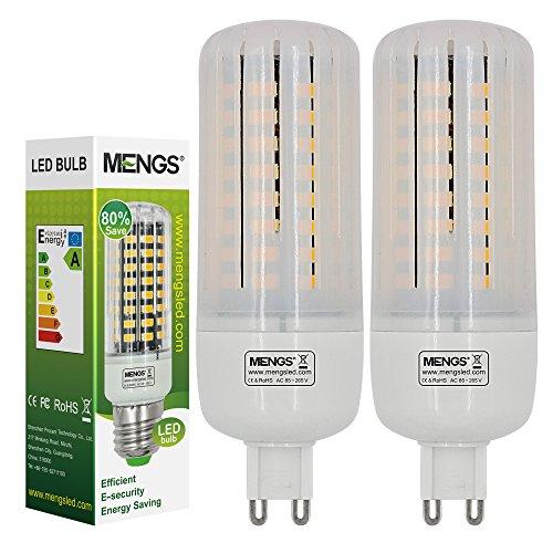 Strobe Lampen (MENGS® 2 Stück Anti-Strobe G9 LED Lampe 9W Kaltweiß 6500K AC 85-265V 72x5736 SMD Mit Aluminium Platte und PC Mantel)