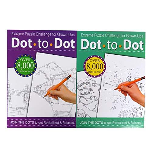 Punkt-zu-Punkt-Malbuch, Extremes Rätsel-Zeichenheft, Herausforderung für Erwachsene, verschiedene Farben (englische Version) (Punkte Erwachsene Verbinden Sie Die)