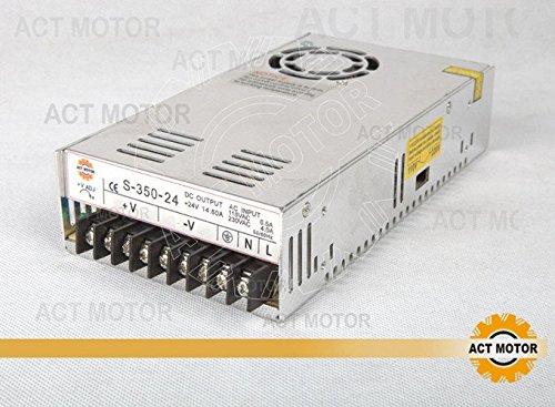 ACT Motor GmbH Netzteil 24V, 14.6A, 350W Schrittmotor Nema23 CNC Maschinen