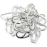10 Stück Swivel Karabinerhaken Haken Schlüsselanhänger Silber 30mm x 45mm