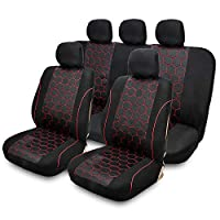 TIROL Universal Soccer Ball Style Full Car Seat Covers Protective Cushion
