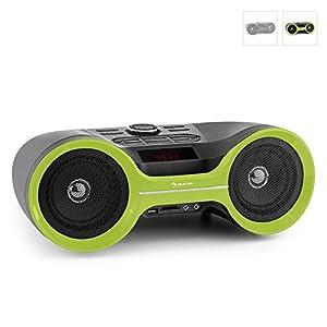 auna Boombastic mobiler Bluetooth-Boombox Ghettoblaster mit Akku
