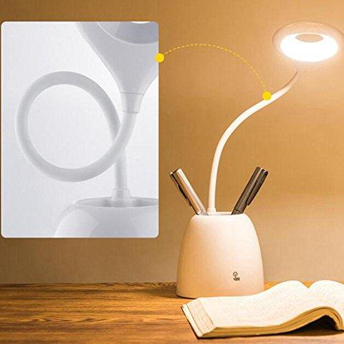 486ee4e7fe86 DENG Ahorro de energía Led Pen Lamp Reading Students Reading Lamp Dormitory  Bedroom Lámpara de cabecera