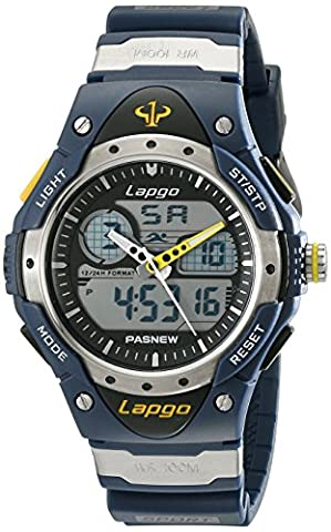 PASNEW LAPGO 100M-Water-resistant Dual-Time Multi-Function Sport Watch for Diving, Swimming (N3)