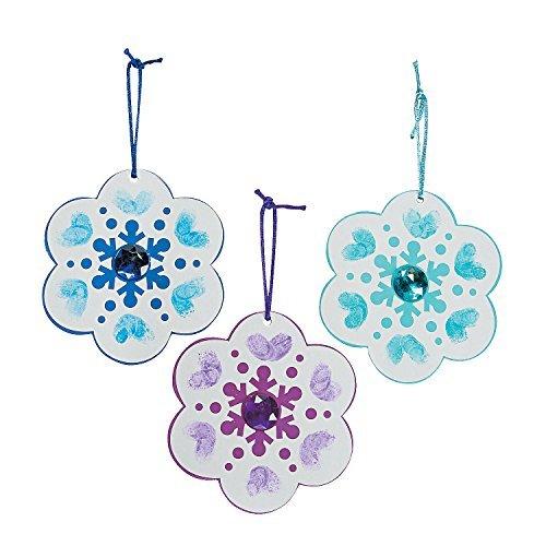 Thumbprint Snowflake Christmas Ornament Craft Kit by OTD -