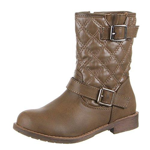 Enfants chaussures bottes bL - 210 Marron - Khaki (24-29)