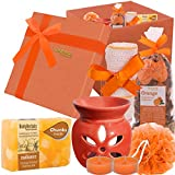 BodyHerbals Orange Spa Set (Bathing Bar, Terrytowel, Spa Accessories) Gifting Idea for All Occasions Personal Care, Beauty, Bath & Shower, Skin care