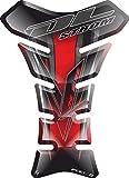 Motorrad Gas Displayschutzfolie Aufkleber/3D Gummi Fuel Tank Pad Tankpad Displayschutzfolie Aufkleber für Suzuki DL-1000 DL1000 1000 DL-650 DL650 650 V-strom Vstrom V strom (Rot)
