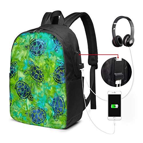 Art Sea Turtles Rucksack Tasche Gym Dance Taschen Geschenk für Mädchen Tochter Boy Geburtstagsgeschenk für Kinder Teen 17 Zoll -