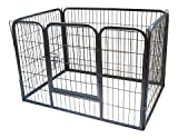 Bunny Business Heavy Duty Puppy Play Pen/ Rabbit Enclosure, Small, Gunmetal Grey