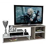LUCA Wohnwand - Weiß / Avola - TV Lowboard - TV Board - Fernsehtisch in modernem Design