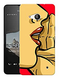 "Humor Gang Shhh Koi Hai Printed Designer Mobile Back Cover For ""Nokia Lumia 550"" (3D, Matte Finish, Premium Quality, Protective Snap On Slim Hard Phone Case, Multi Color)"