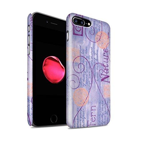STUFF4 Matte Snap-On Hülle / Case für Apple iPhone 8 Plus / Blau Muster / Muster Natur Kollektion Lila / Orange