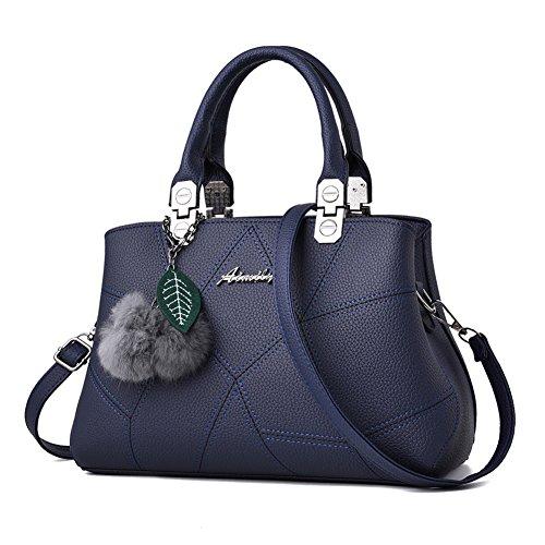 Barwell Damen Handtasche lässig Umhängetasche Taschen Frauen PU-Leder Schultertasche (Damen-flasche)